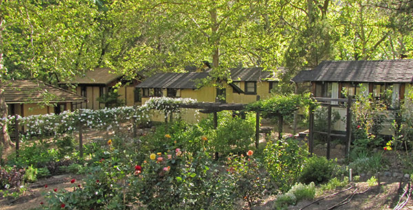 Tassajara Guest Accomodations and garden