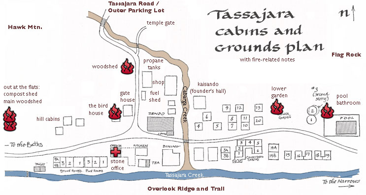 Tassajara Cabins and Grounds Plan